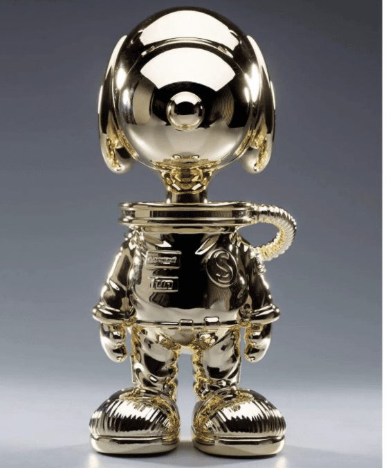 Gold plated moon landing snoopy